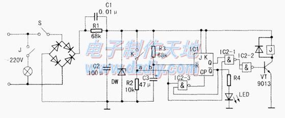 电路原理 如图所示,220v市电经桥式整流