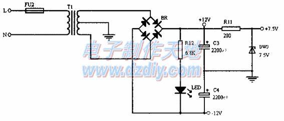 电热开水桶电路实物图